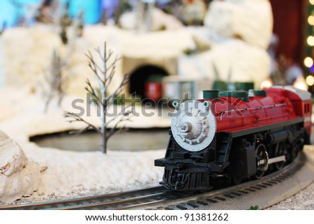 Miniature train in Santa's village