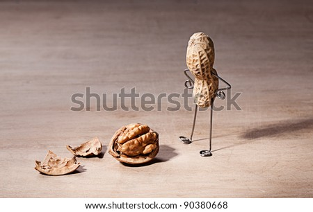 Miniature with Peanut Man and Walnut Brain