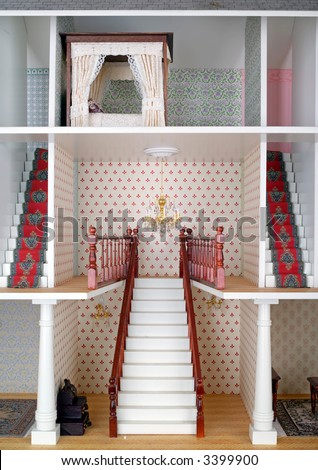 Miniature world, adult dolls house staircase