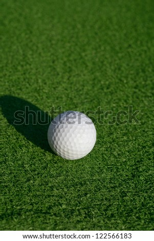 Minigolf ball on a course