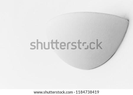 Minimal architectural background, round white interior decoration element on the wall  #1184738419