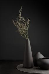 Minimal Black Vase Set
