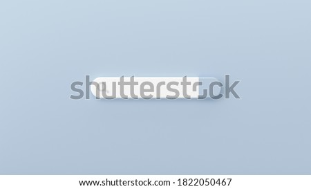 Minimal blank search bar on grey background. web search concept. 3d rendering
