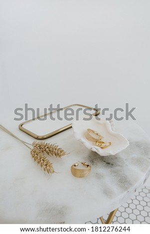 Wheat Tile Earrings