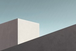minimal modern geometric architecture shape