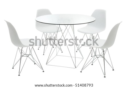 minimal table with chairs