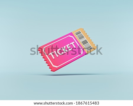 minimal Ticket icon isolated. 3d rendering