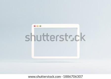 Minimal web simple browser window, 3d rendering Foto stock ©