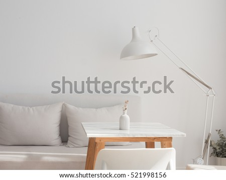 Minimal white living room