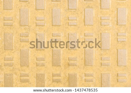 Minimalist mellow yellow background with rectangles. Trend color of 2020.  #1437478535
