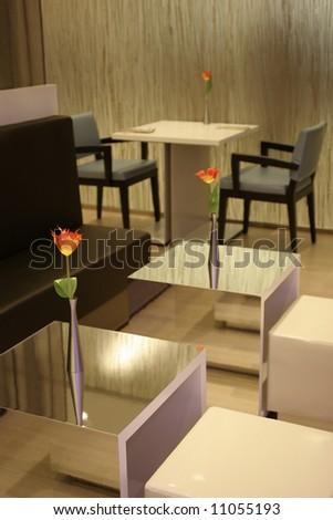 Minimalistic cafe interior