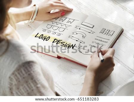 Minimalistic Creative Logo Label Product Trademark Design #651183283