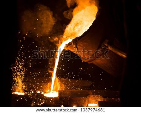 mining casting work Foto stock ©