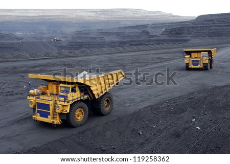 Mining, coal loading,  the supersize car