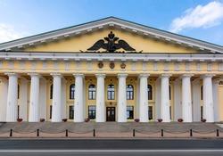 Mining (Gorny) University building in Saint Petersburg, Russia (inscription