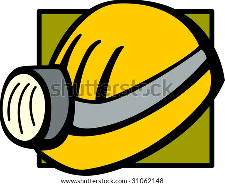 mining helmet or hardhat with light