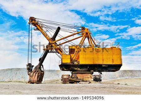 Mining industry machine - vintage excavator