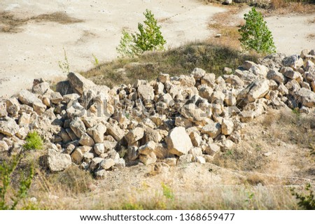 Mining, quarrying, and production of stone at a forsaken quarry #1368659477