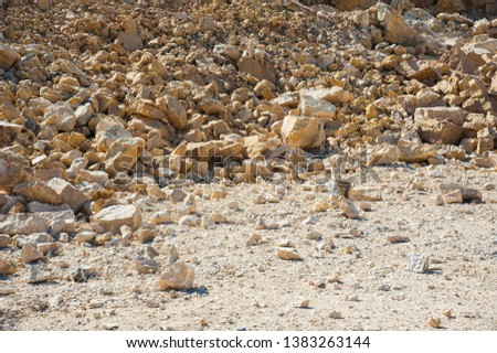 Mining, quarrying, and production of stone at a forsaken quarry #1383263144