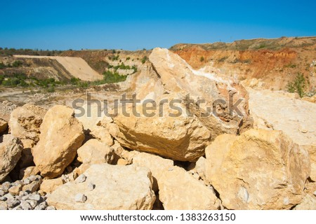 Mining, quarrying, and production of stone at a forsaken quarry #1383263150