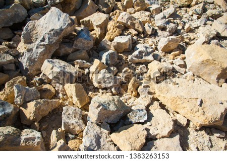 Mining, quarrying, and production of stone at a forsaken quarry #1383263153