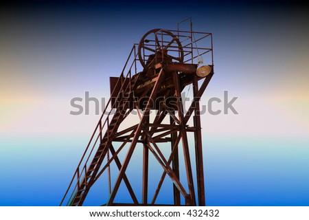 Mining shaft tower