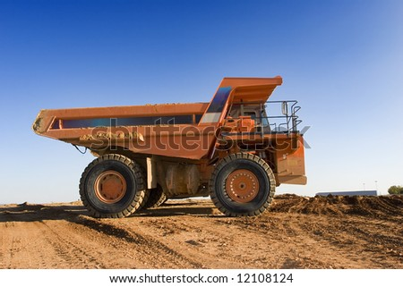 Mining truck at work-site