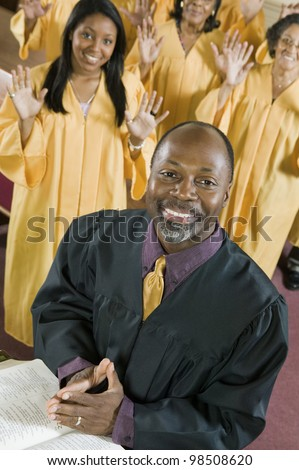 Minister and Gospel Choir
