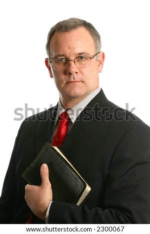 Minister with black Bible