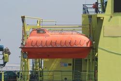 Minisub on a Dutch coast guard ship