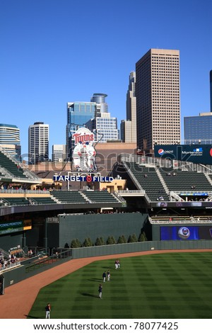 MINNEAPOLIS - APRIL 21: Target Field, the new outdoor stadium of the Minnesota Twins, on April 21, 2010 in Minneapolis, Minnesota. The ballpark seats 39,504 and cost over $500 million to construct.