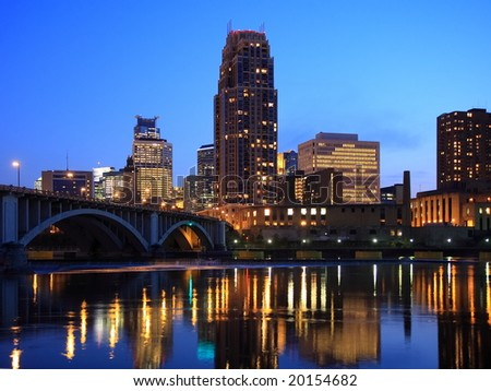 Minneapolis at night horizontal