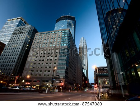 Minneapolis City Photo downtown skyline Minnesota Midwest