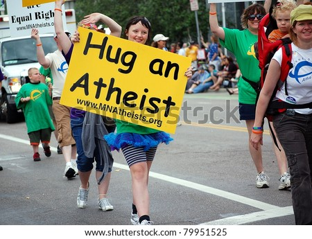 stock photo minneapolis june unidentified minnesota atheists march in the twin cities gay pride parade 79951525 Does bed wetting when you're younger connect to a love for diapers or being ...