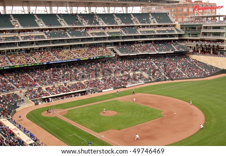 MINNEAPOLIS - MARCH 27:  The Univ. of Minnesota plays Louisiana Tech in the first baseball game ever played at Target Field, the new home of the Minnesota Twins, on March 27, 2010 in Minneapolis.