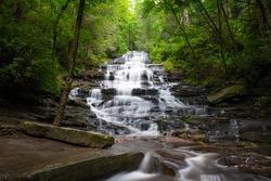 Minnehaha Falls, Rabun County, Georgia on Falls Creek.