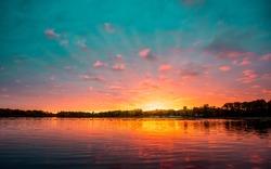 Minnesota Lake Sunset