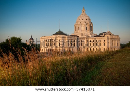 Minnesota State Capital at Sunrise
