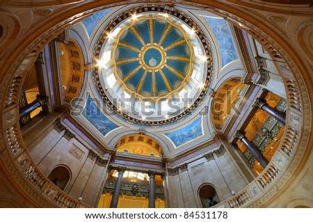 Minnesota State Capitol Inside - stock photo