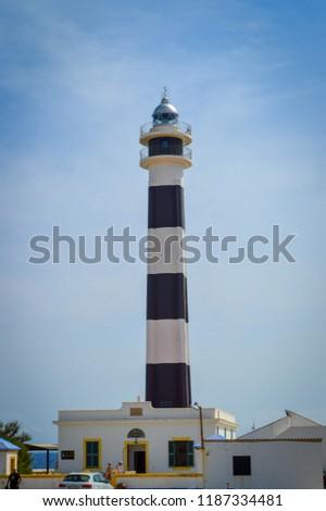 Minorca Lighthouse Cap de Artrutx cala n'bosch. Cami de cavalls. Spain  Foto stock ©