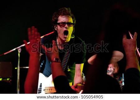 MINSK, BELARUS - APRIL 05: Glenn Hughes, live concert on April 05, 2008 in Minsk, Belarus