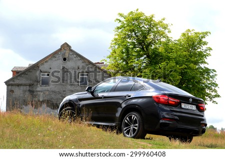 MINSK, BELARUS - CICRCA JULY 2015: New BMW X6 M50d at the test drive event for automotive journalists from Minsk