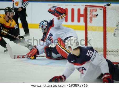 MINSK, BELARUS - MAY 20: THOMAS Tim of USA during 2014 IIHF World Ice Hockey Championship match on May 20, 2014 in Minsk, Belarus