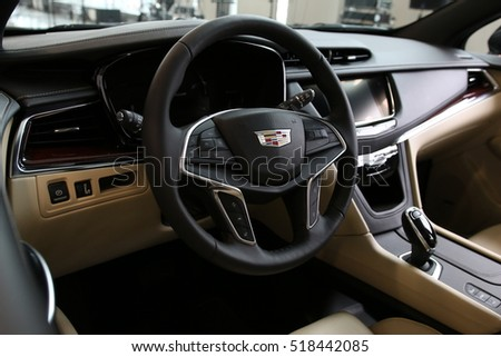 MINSK, BELARUS NOVEMBER 15, 2016: New Cadillac XT5 at the test drive event for automotive journalists from Minsk #518442085