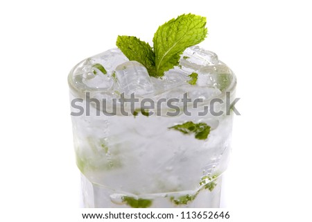 mint juice on white backgrounds