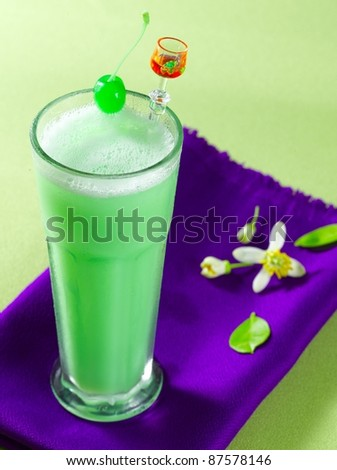 mint milk shake