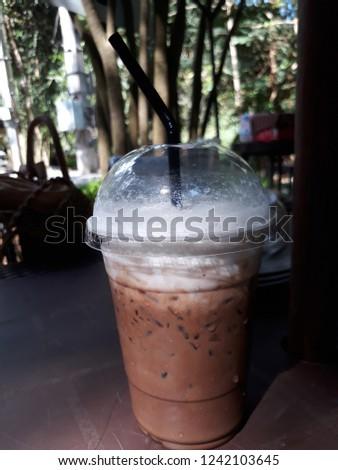 Mint mocha coffee  #1242103645