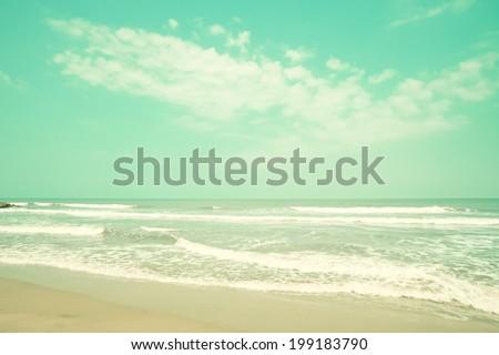 Mint turquoise retro beach