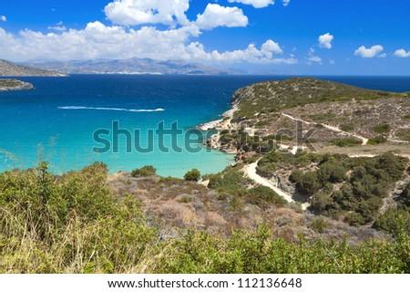 Mirabello gulf at Crete island in Greece, near Aghios Nikolaos city