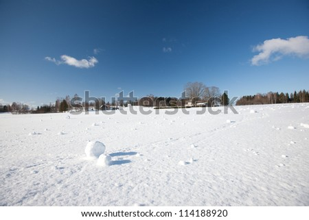 Miracle by nature - snow balls naturally made by snow and wind, Latvia, Baltic states, Europe